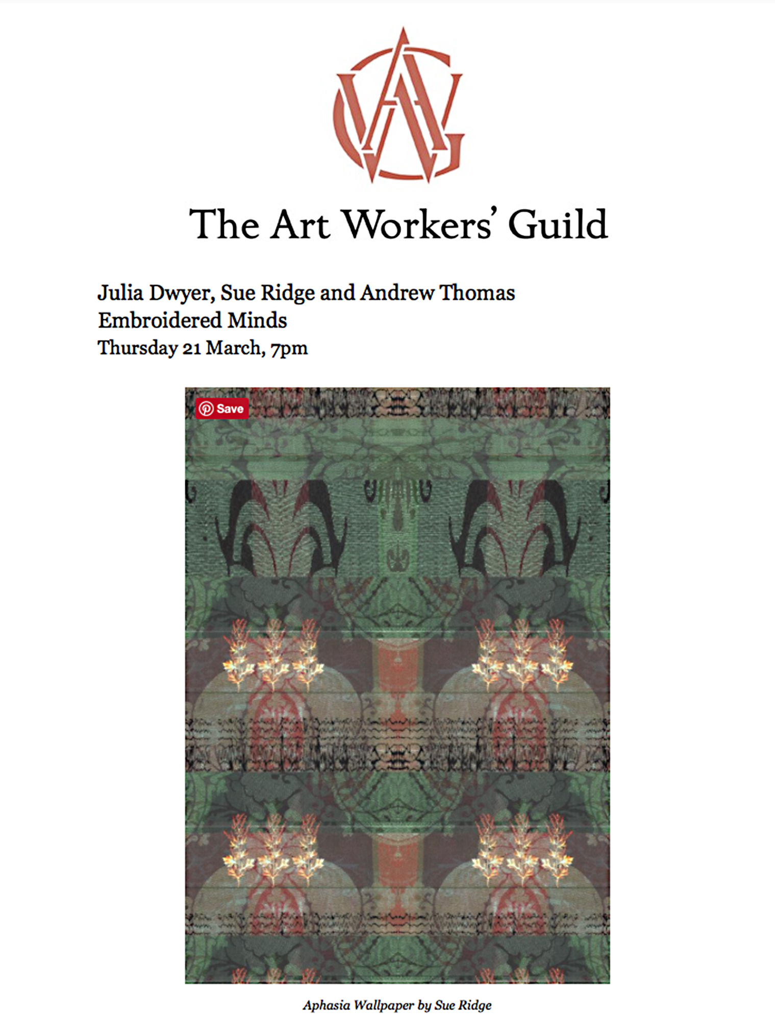 Art Workers Guild talk